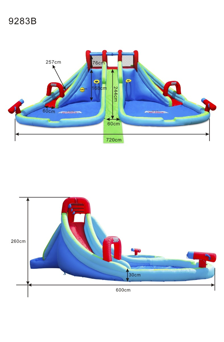 Jumping castle size