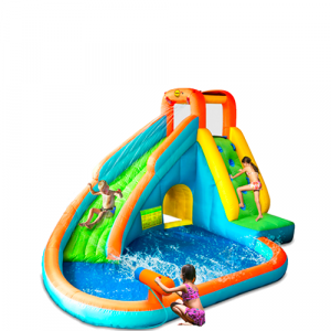 Island Water Slide with Pool and Water Gun