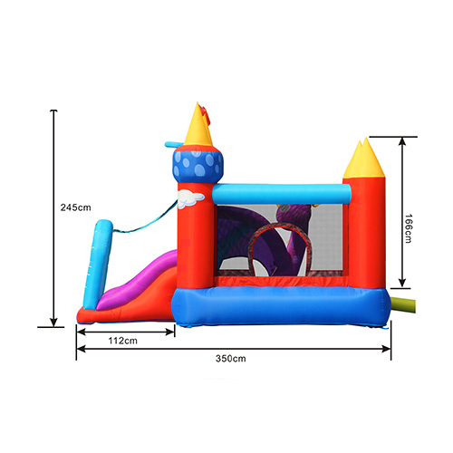 Side view jumping castle