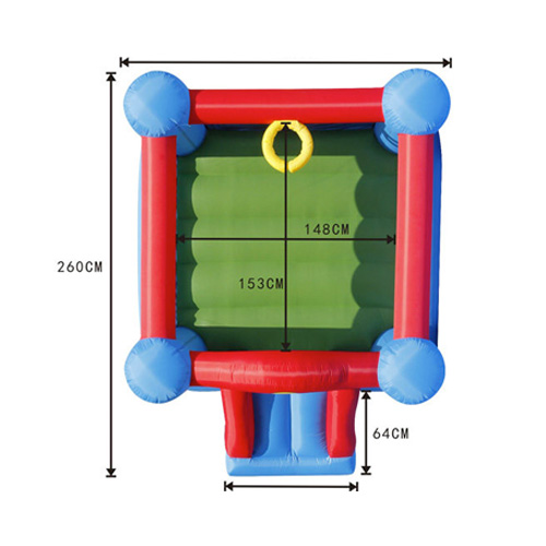 Jumping castles front dimensions